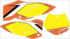 KTM SX/SXF 2007-2010 and 2008- 2011 EXC/XCW Numberplate Decals PG3B