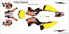 KTM SX/SXF 2007-2010 and 2008- 2011 EXC/XCW TRIBAL SPLASH Full Graphics kit
