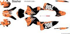 KTM SX/SXF 2007-2010 and 2008- 2011 EXC/XCW SLASHER Full Graphics kit