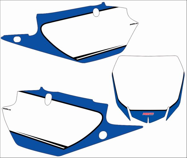 Yamaha YZF450 2018+ and 2019 YZF250 Numberplate Decals PG2