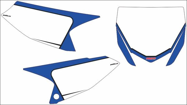 Yamaha YZ65 2018 PG2 Numberplate Decals