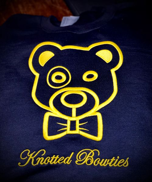 Knotted the Bear Monogrammed Crewneck Sweatshirt
