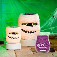 Halloween Decor and fragrance- Ghostly Greetings fragrancand Under Wraps warmer