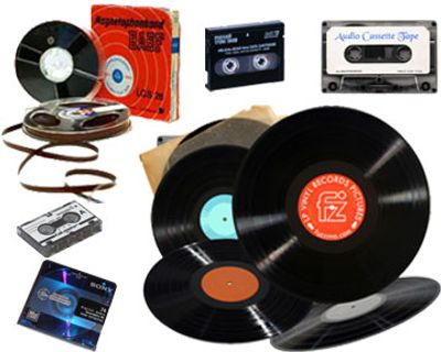 we can digitize audio cassette tapes, records, micro cassettes, reel to reel tape