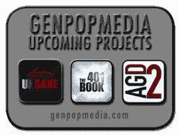 Future Productions: UNSANE, 401 Book & AGD2 are set to be released by Genpopmedia beginning in 2021.