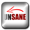 UNSANE Movie Button Logo by GenpopMedia.  Unsane is in production and due for release in 2021.