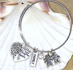 Mother and Daughter For Always Expandable Bangle Trio