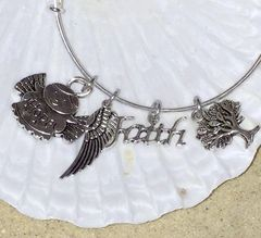 Faithful Angel Expandable Bangle