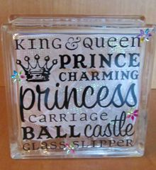 Fairy Tale Glass Block
