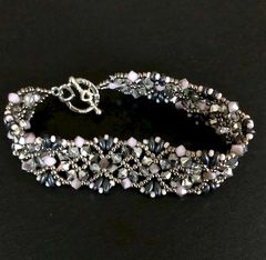 Pink and Silver Sparkly Bracelet