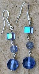 Got the Blues Crystal Dangle Earrings