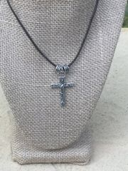 Contempo Cross Pendant on Leather