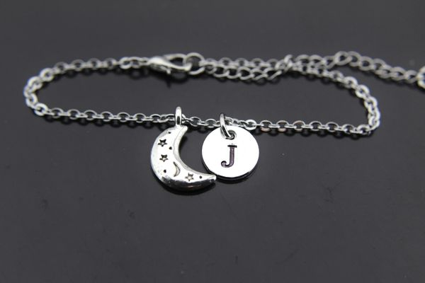 Silver Moon Charm Bracelet
