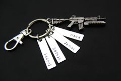 Rifle Keychain Machine Gun Keychain