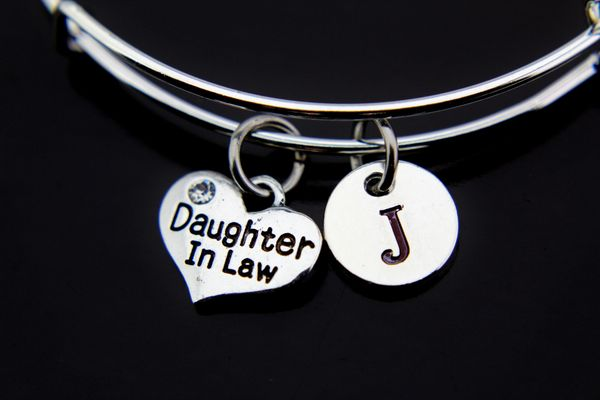 Silver Daughter in Law Charm Bracelet