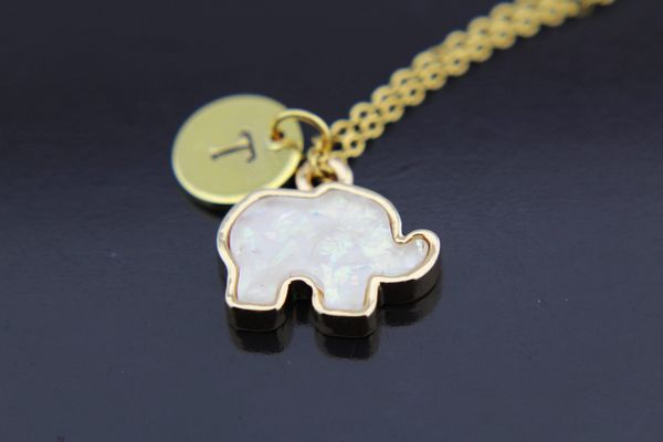 Gold Elephant Charm Necklace