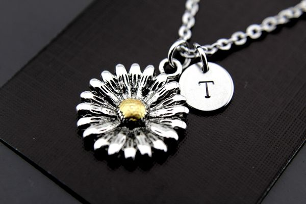 Silver Daisy Charm Necklace
