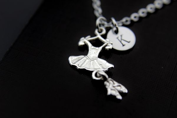 Silver Ballet Charm Necklace