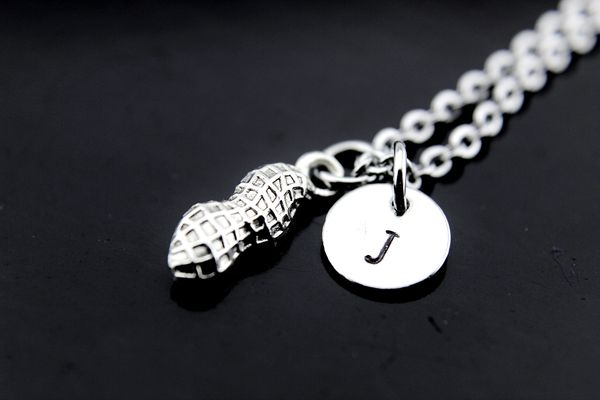 Silver Peanut Charm Necklace