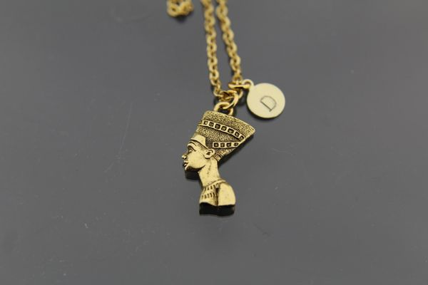 Gold Nefertiti Charm Necklace