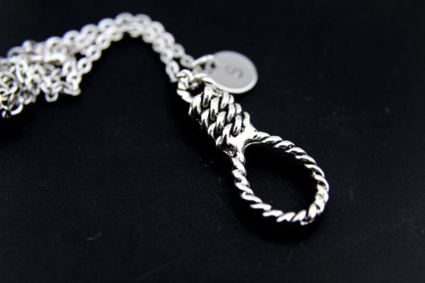 Silver Hangman's Noose Charm Necklace