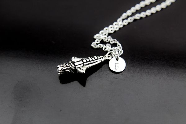 Silver Aerospace Charm Necklace
