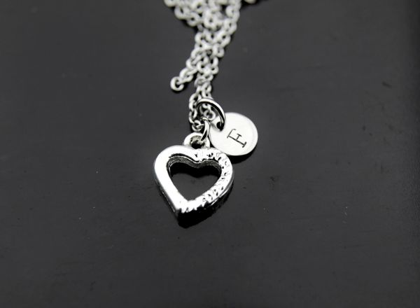 Silver Heart Charm Necklace