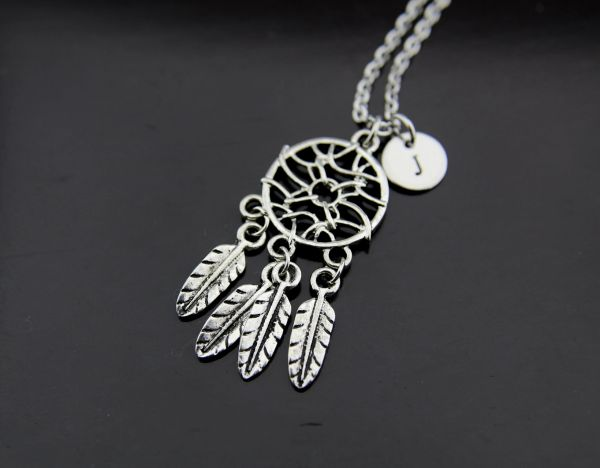 Silver Dreamcatcher Charm Necklace
