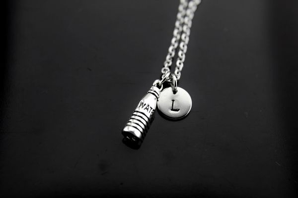 Silver Water Bottle Charm Necklace