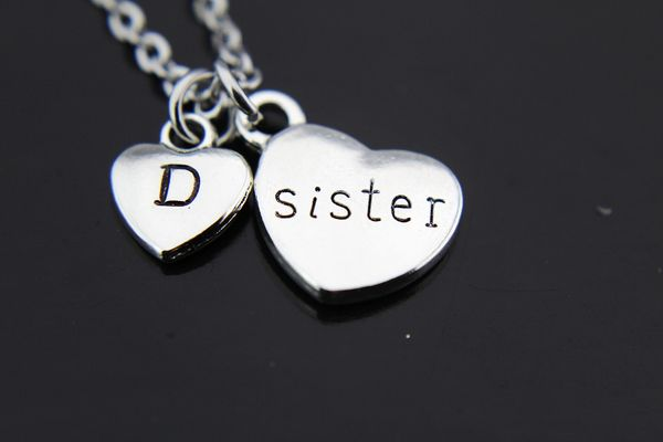 Silver Sister Charm Necklace