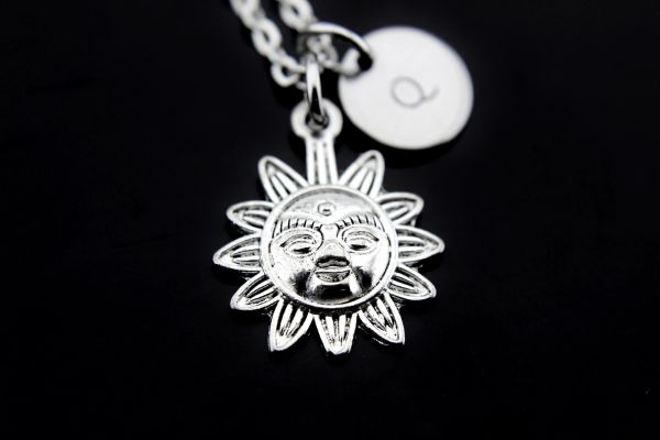 Silver Sun Charm Necklace