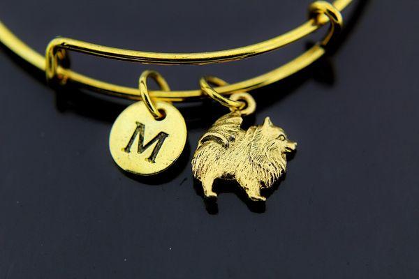 Gold Dog Charm Bracelet
