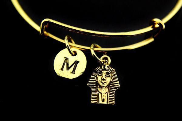 Gold Egypt King Charm Bracelet