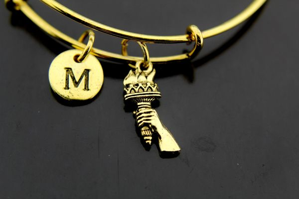 Gold Statue of Liberty Charm Bracelet