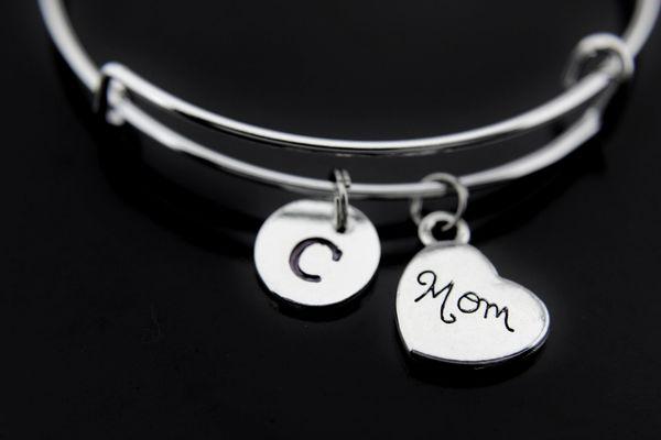 Silver Mom Charm Bracelet
