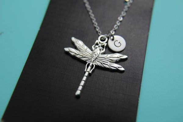 Silver Dragonfly Charm Necklace