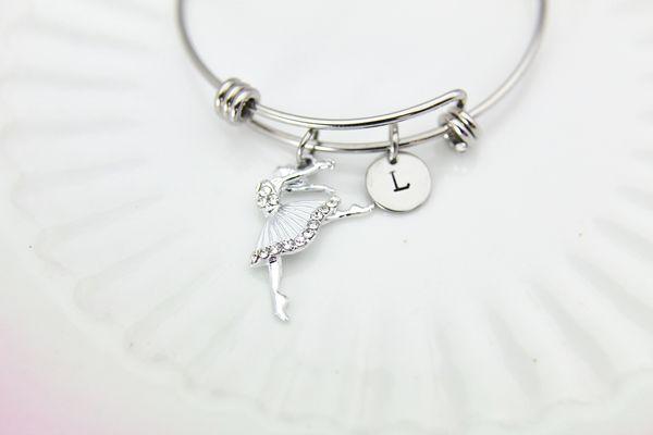 Silver Ballerina Charm Bracelet, B121