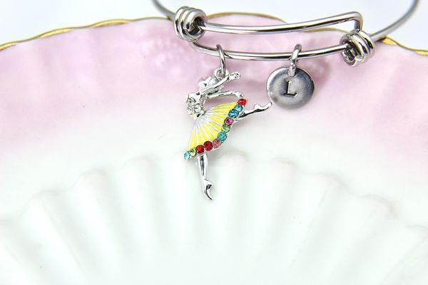 Silver Ballerina Charm Bracelet, B122