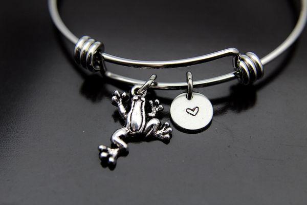 Silver Frog Charm Bracelet, B124