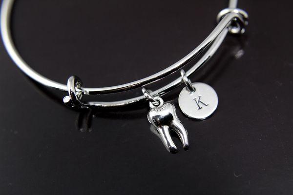 Silver Tooth Charm Bracelet, B135