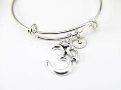 Silver Om Charm Bracelet, B136