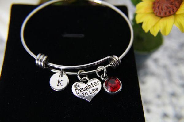 Silver Daughter in Law Charm Bracelet, B141