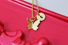 Gold Butterfly Necklace, Dainty Necklace