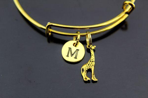 Giraffe Bracelets, Gold Giraffe Charm Bracelet Bangles
