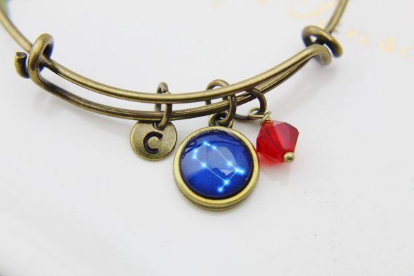 Gemini Bracelet Birthstone Jewelry Personalized Bangle