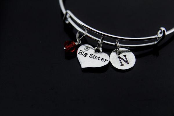 Big Sister Bracelet Sister Charm Bracelet Personalized Bangle