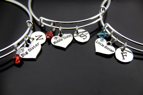 Big Sister Middle Sister Little Sister Bracelet