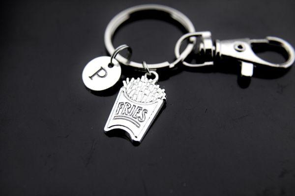 French Fry Keychain French Fries Charm French Fries Jewelry Personalized Keychain