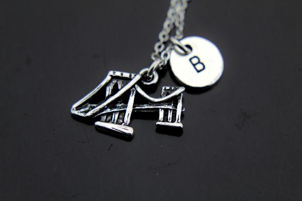 Silver Brooklyn Bridge Necklace