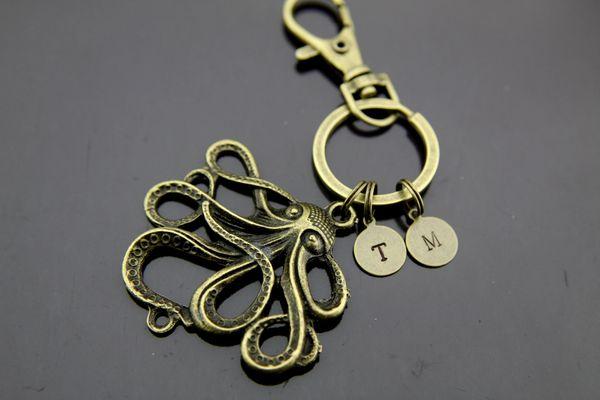Octopus Keychain Personalized keychain
